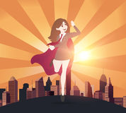Superhero business women concept. illustration Royalty Free Stock Images