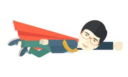 Superhero businessman Stock Images