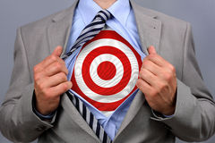 Superhero businessman Royalty Free Stock Photo