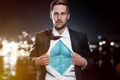 Superhero Businessman Royalty Free Stock Photography