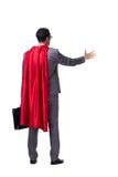The superhero businessman isolated on white background. Superhero businessman isolated on white background Stock Image
