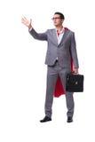 The superhero businessman isolated on white background. Superhero businessman isolated on white background Stock Images