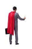 The superhero businessman isolated on white background. Superhero businessman isolated on white background Royalty Free Stock Photos