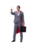 The superhero businessman isolated on white background. Superhero businessman isolated on white background Royalty Free Stock Image