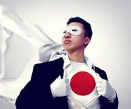 Superhero Businessman Japanese Isolated on White Concept Stock Image