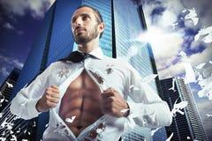 Superhero businessman Stock Photos