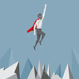 Superhero businessman with in strength concept. Stock Images