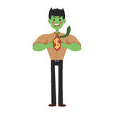 Superhero businessman vector hero super vector illustration man cartoon power concept character comic male strong person Royalty Free Stock Images