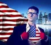 Superhero Businessman Vote Power Concept Stock Images