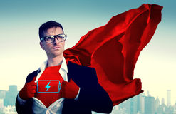 Superhero Businessman Vote Power Concept royalty free stock image