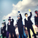 Superhero Businessmen Industrial Outdoor Concept Royalty Free Stock Photography