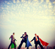 Superhero Businessmen Power Confidence Concept Royalty Free Stock Photography