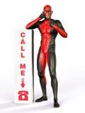 Superhero call me sign Stock Images