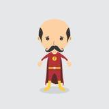 Superhero cartoon character Royalty Free Stock Photos