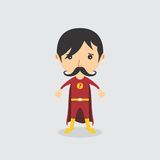 Superhero cartoon character Stock Photography