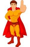 Superhero cartoon giving thumb up Royalty Free Stock Photo