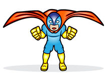 Superhero. A cartoon illustration of a superhero Royalty Free Stock Image