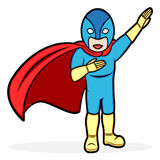 Superhero. A cartoon illustration of a superhero Stock Photo