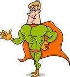 Superhero cartoon illustration Royalty Free Stock Image