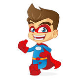 Superhero leaning and giving thumb up Stock Photography