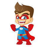 Superhero feeling strong Royalty Free Stock Photos