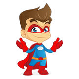 Superhero feeling confident Royalty Free Stock Photo