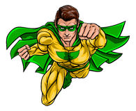 Superhero. Cartoon superhero in a pop art comic book style Royalty Free Stock Photography