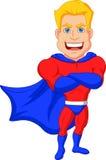 Superhero cartoon posing Royalty Free Stock Image