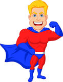Superhero cartoon posing Stock Photos