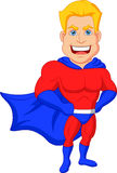 Superhero cartoon posing Royalty Free Stock Photography