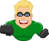 Superhero cartoon posing Stock Images