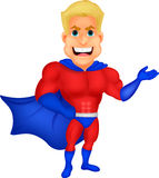 Superhero cartoon presenting Stock Photos