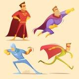 Superhero Cartoon Set Royalty Free Stock Image
