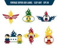 Superhero cartoon theme Royalty Free Stock Photography