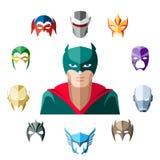 Superhero character, flat design Stock Photography