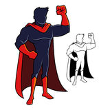 Superhero Character Raising His Arm Stock Photography