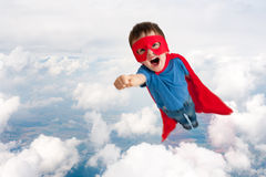 Superhero Child Boy Flying Royalty Free Stock Photos