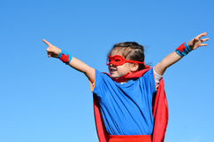 Superhero child - girl power Royalty Free Stock Image