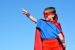 Superhero child - girl power Royalty Free Stock Images