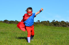 Superhero child - girl power Royalty Free Stock Photos