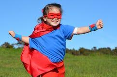 Superhero child - girl power Stock Photography