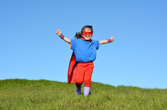 Superhero child - girl power Royalty Free Stock Photography