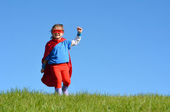 Superhero child - girl power Royalty Free Stock Photo