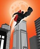Superhero city 01-01.eps stock illustration