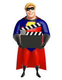 Superhero with Clapper board Stock Photography