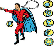 Superhero clobber!. Super hero punch, any crest can be used Stock Images