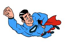 Superhero color icon. royalty free illustration