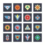 Superhero color vector badges, emblems, logos Royalty Free Stock Image