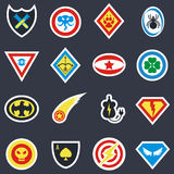 Superhero color vector badges, emblems, logos Royalty Free Stock Image