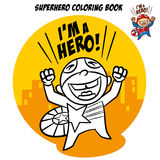 Superhero Coloring Book. Comic character isolated on white background Royalty Free Stock Images